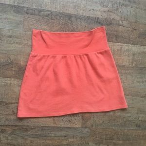American Apparel Cotton High-Waist Skirt